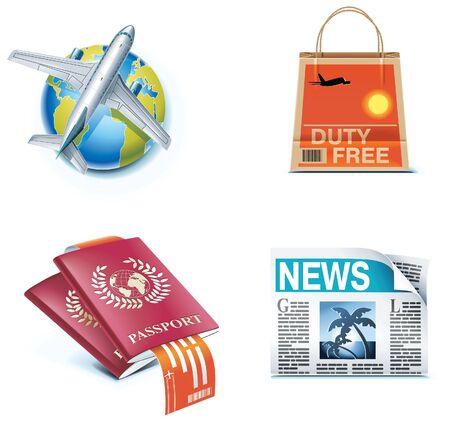 voyage: Iconos de viajes y vacaciones. Parte 1 Vectores