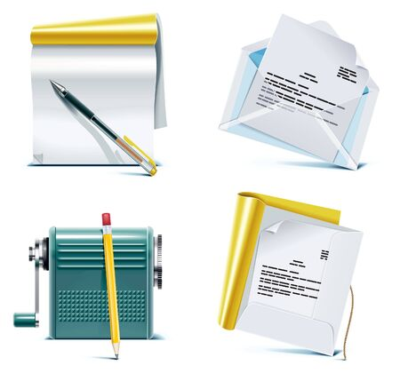 files: office icon set. Part 1 Illustration