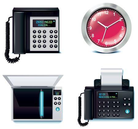 office clock: conjunto de iconos de la Oficina. Parte 5  Vectores