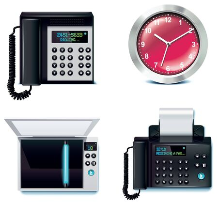 fax: office icon set. Part 5