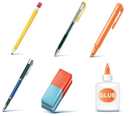 glue:  Office-Symbol-Satz. Teil 6 Illustration