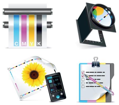imprenta: conjunto de iconos de imprenta. Parte 5