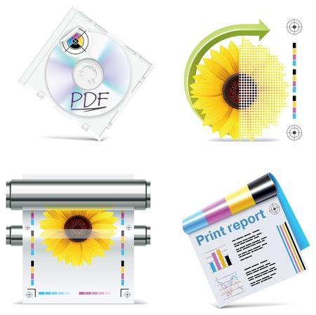 offsetdruck: Druckerei-Icon-Set. Teil 6