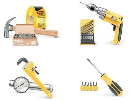 Homebuilding, conjunto de iconos de Renovating