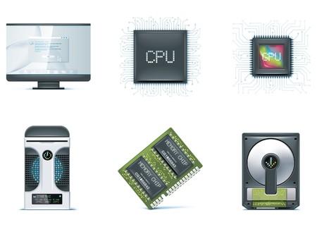 computer case: Computer icon set. Part 1 Illustration