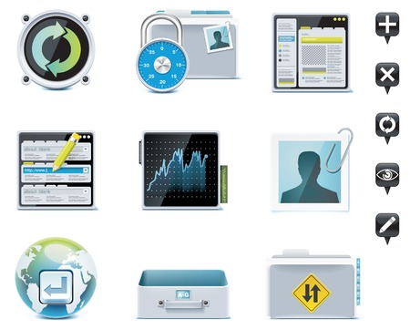 account management: Server administration icons. Part 2 Illustration