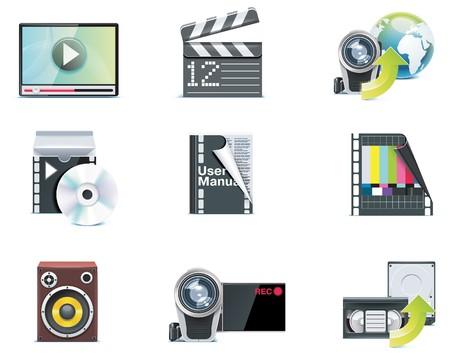 iconos de vídeo.