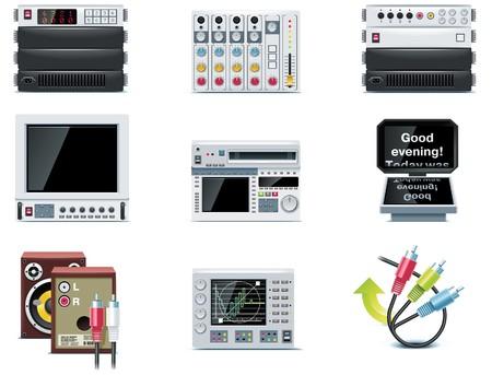 multimedia pictogram: video icons.