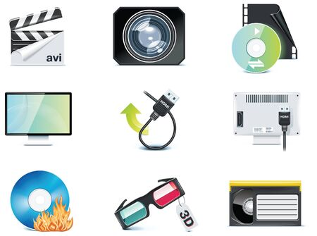 video icons. Stock Vector - 7161061