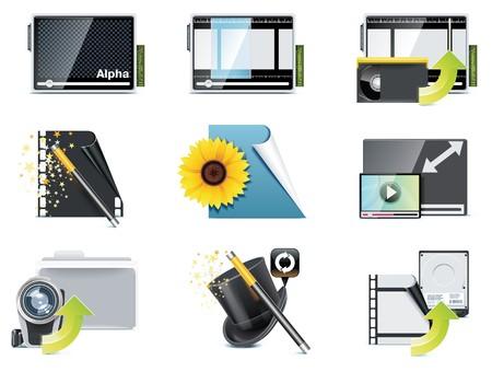 converter: video icons.
