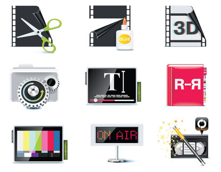 video icons. Stock Vector - 7161065
