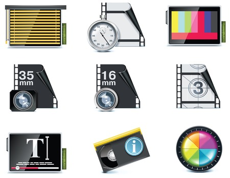 video icons.  Vector