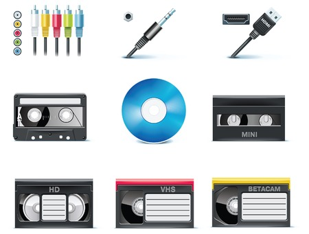 cassettes: video icons.