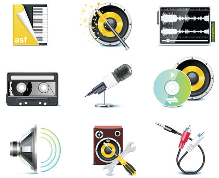 video icons. Stock Vector - 7161066