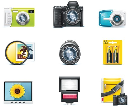 Vector photography icons. Part 1  Vector