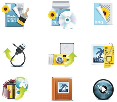 publish: Vector photography icons. Part 3