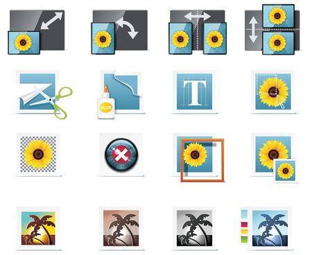 image size: Iconos de fotograf�a de vector. Parte 6