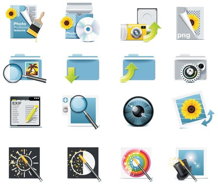adjust: Vector photography icons. Part 7