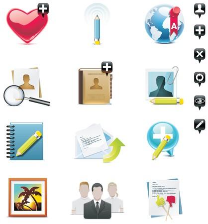 contact book: conjunto de iconos de medios de comunicaci�n social. Parte 1  Vectores