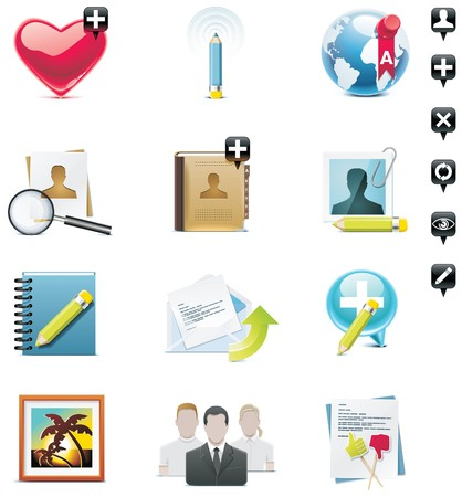 picture book:  social media icon set. Part 1