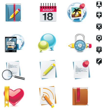 social media icon set. Part 2 Vector