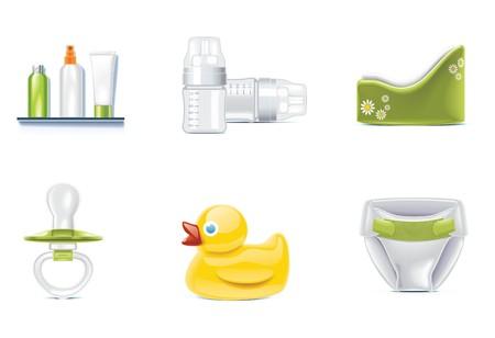 Vektor-Baby-Icons. Teil 3