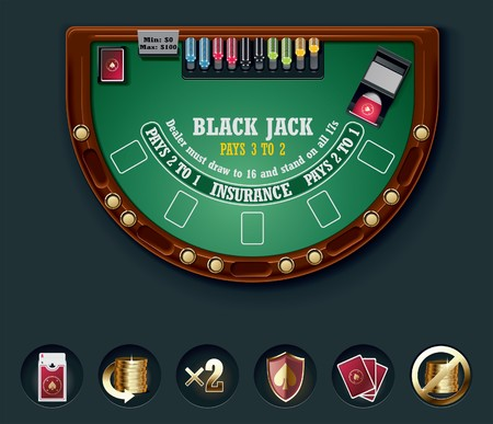 blackjack table layout Stock Vector - 7345895