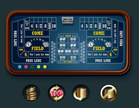 casinos: craps table layout (big)