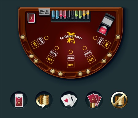 poker table layout Stock Vector - 7345899