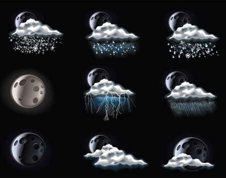weather forecast icons. Part 3 Vector