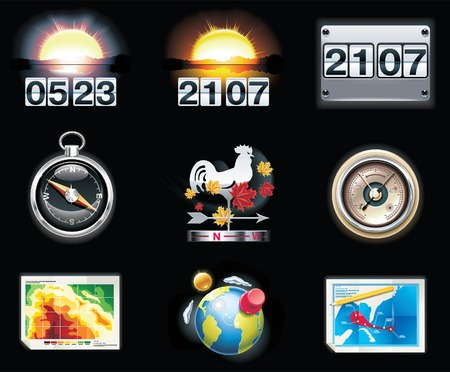weather forecast icons. Part 4 Stock Vector - 7442997