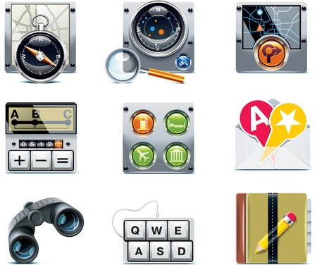 gps navigator: GPS navigation icons. Part 2 Illustration
