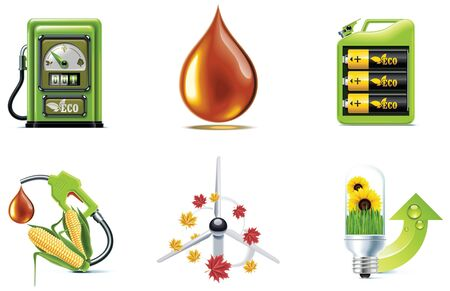gases: ecology icon set. Part 1
