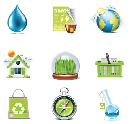 ecology icon set. Part 3 Stock Vector - 7499833