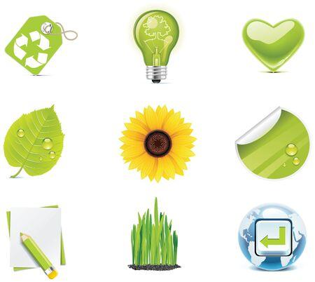 incandescent: ecology icon set. Part 4