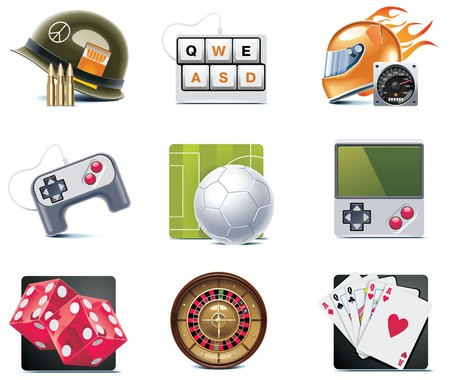 video card:  video games icons. Part 2 Illustration
