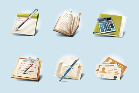 address book: application icons. Part 1 Illustration