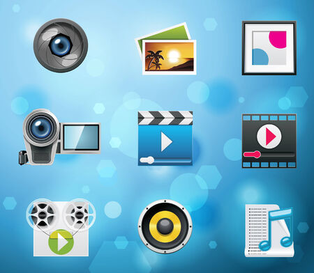 Typical mobile phone apps and services icons. Part 5 of 10 Vector