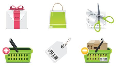 consumerism: Vector shopping icon set and elements. Part 3