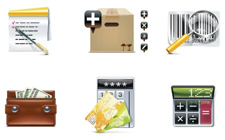 internet terminals: Vector shopping icon set and elements. Part 4 Illustration