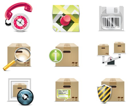 diskette: Vector shopping icon set and elements. Part 5