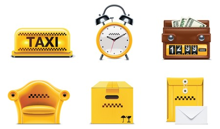 fare: taxi and transportation service icon set. part 2 Illustration