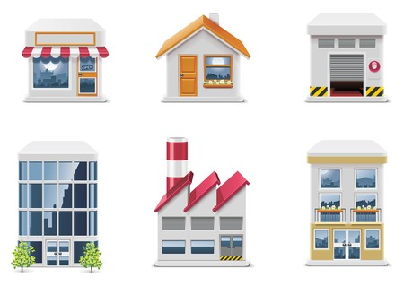 apartment building: real estate icons. Part 1 Illustration