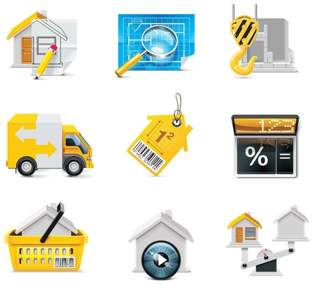 real estate icons. Part 2 Vector