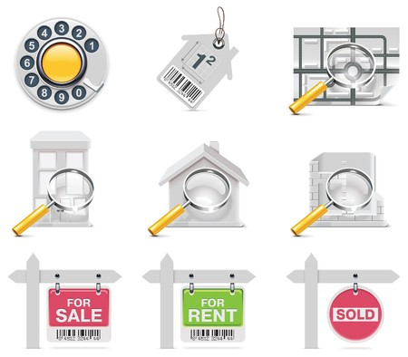 real estate icons. Part 3 Stock Vector - 7948913