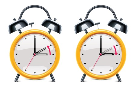 daylight saving time illustration Vector