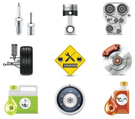 frenos: Iconos de servicio de coche.