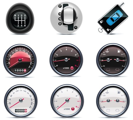 robotic transmission: Car service icons.