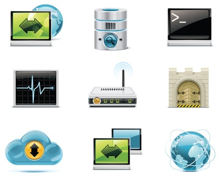 internet and network icons.   Stock Vector - 8189337