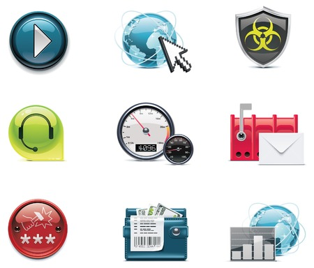 internet and network icons.   Vector